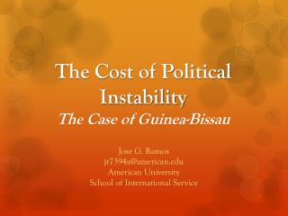 The Cost of Political Instability The Case of Guinea-Bissau