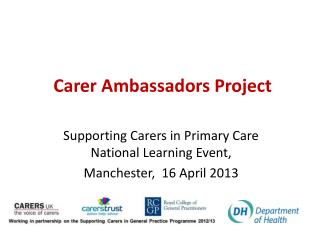 Carer Ambassadors Project
