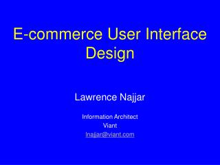 E-commerce User Interface Design
