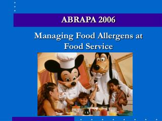 Managing Food Allergens at  Food Service