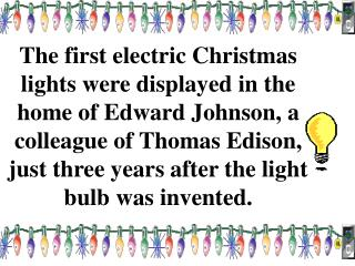 christmas lights trivia Tracy King