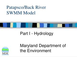 Patapsco/Back River  SWMM Model