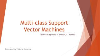 Multi-class Support Vector Machines