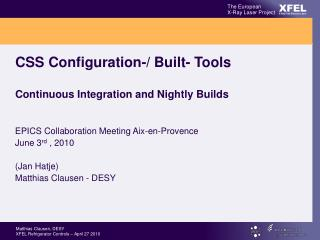 CSS Configuration-/ Built- Tools Continuous Integration and Nightly Builds