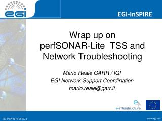 Wrap up on  perfSONAR-Lite\_TSS and Network Troubleshooting