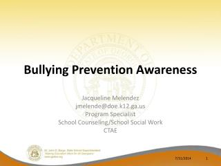 Bullying Prevention Awareness