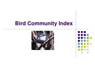 Bird Community Index