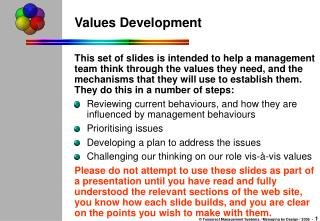 Values Development