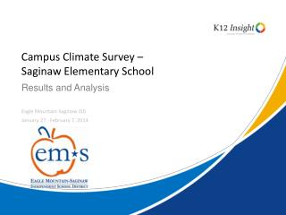 Campus Climate Survey –  Saginaw Elementary School