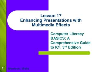 Lesson 17 Enhancing Presentations with Multimedia Effects