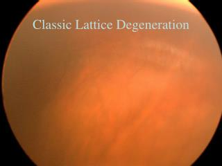 Classic Lattice Degeneration