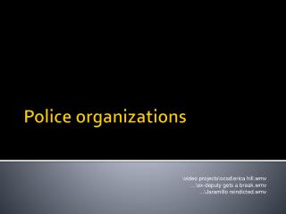 Police organizations