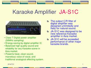 Karaoke Amplifier   JA-S1C