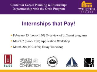 Internships that Pay!