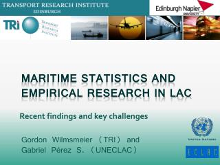 Maritime Statistics and Empirical Research in LAC