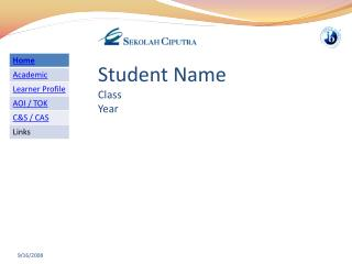 Student Name Class Year