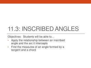 11.3: Inscribed angles