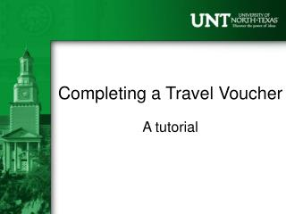 Completing a Travel Voucher