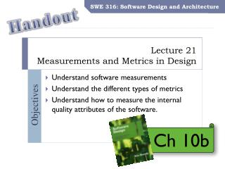 Lecture  21 Measurements and Metrics in  Design