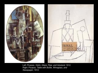 Picasso,  Still Life  with Chair Caning ,  May  1912.