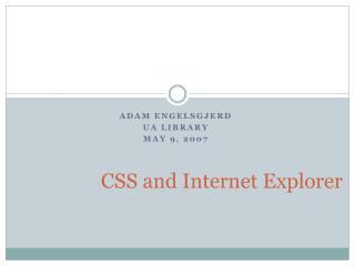 CSS and Internet Explorer