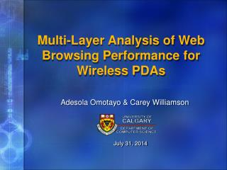 Multi-Layer Analysis of Web Browsing Performance for Wireless PDAs
