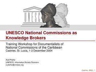 UNESCO National Commissions as  Knowledge Brokers