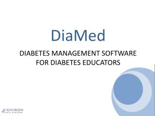 Diabetes Management Software  for Diabetes Educators