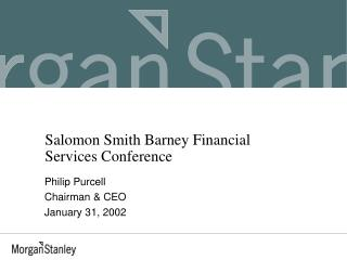 Salomon Smith Barney Financial Services Conference