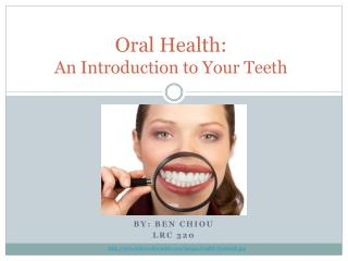 Oral Health: An Introduction to Your Teeth