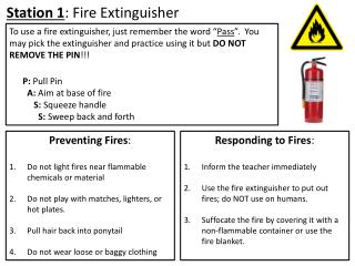 Station 1 : Fire Extinguisher