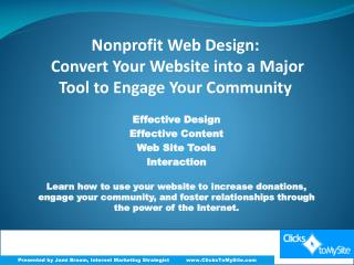 Effective Design Effective Content Web Site Tools Interaction