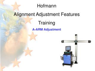 Hofmann Alignment Adjustment Features Training A-ARM Adjustment
