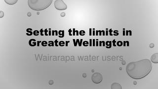 Setting the limits in Greater Wellington