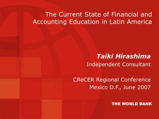 The Current State of Financial and Accounting Education in Latin America