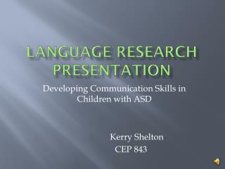 Language Research Presentation