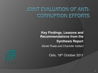 Joint Evaluation of Anti-Corruption Efforts