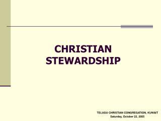 CHRISTIAN STEWARDSHIP