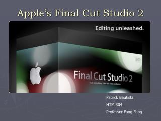 Apple's Final Cut Studio 2