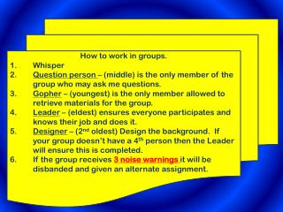 How to work in groups. Whisper