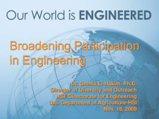 Broadening Participation in Engineering