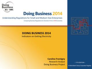 DOING BUSINESS  2014 Indicators on Getting Electricity