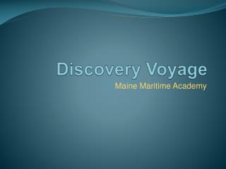 Discovery Voyage