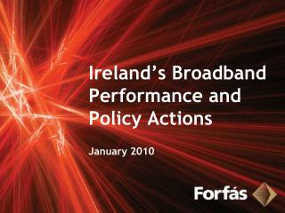 Ireland's Broadband Performance and Policy Actions