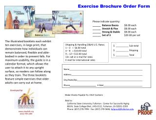 Exercise Brochure Order Form