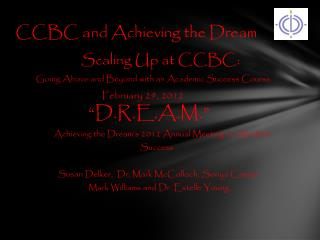 CCBC and Achieving the Dream