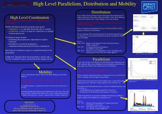 High Level Parallelism, Distribution and Mobility