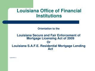 Louisiana Office of Financial Institutions