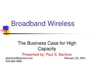 Broadband Wireless
