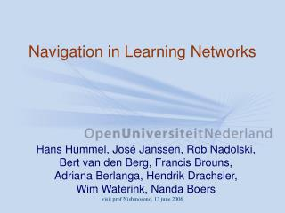 Navigation in Learning Networks